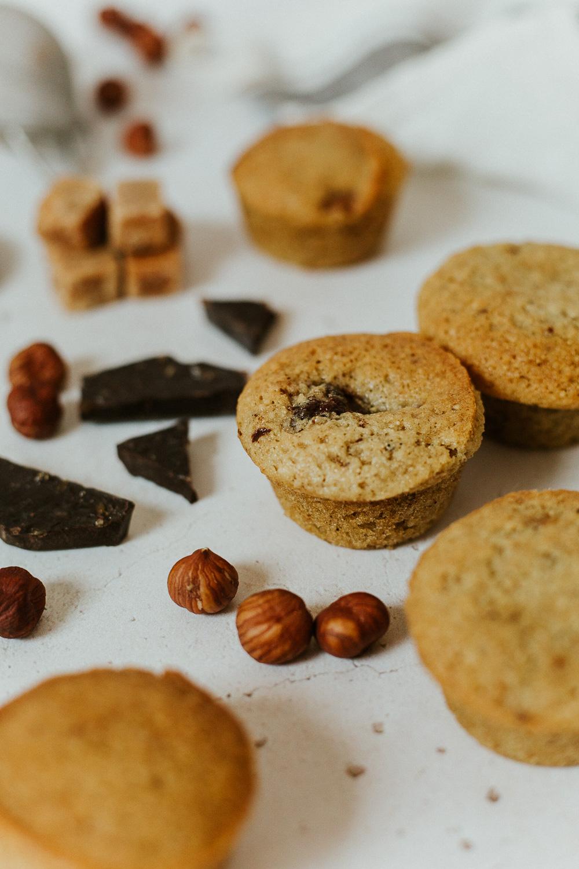 recette sans gluten muffins noisette chocolat photographe culinaire lyon
